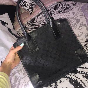 Authentic Black Vintage Gucci Handbag